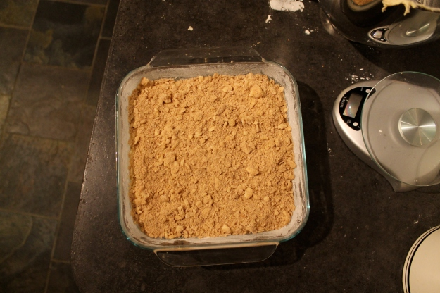 the coffee cake before it went into the oven